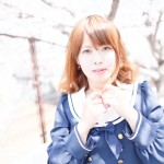 ポートレート 桜 ハイキー model:飛鳥