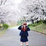 桜のポートレート 制服 女子高生 model:緋梛