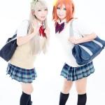 ラブライブ!制服 model:ここな(南ことり)& アサ(高坂穂乃果)