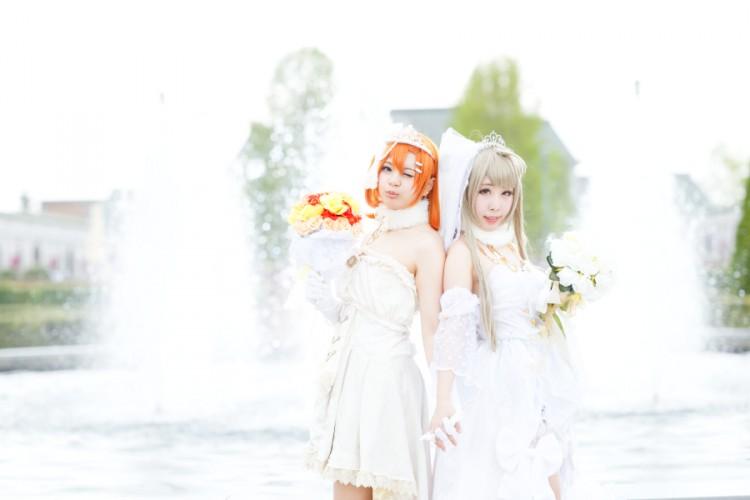 ラブライブ! スクフェス ウエディングドレス model:ゆゆ(高坂穂乃果)& 緋梛(南ことり)