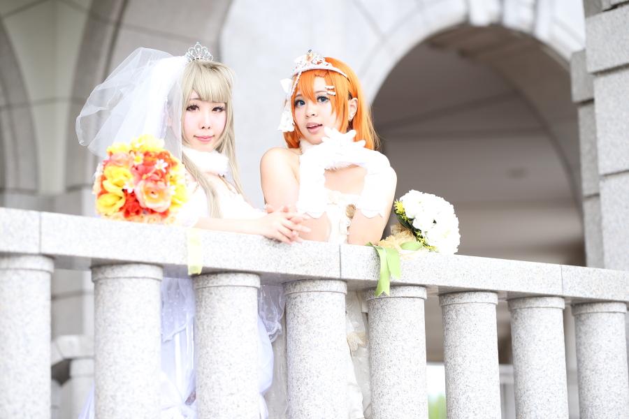 ラブライブ! スクフェス ウエディングドレス  model:緋梛(南ことり)& ゆゆ(高坂穂乃果)