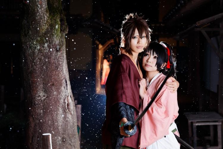 薄桜鬼 model:りるる(沖田総司)&アサ(雪村千鶴)
